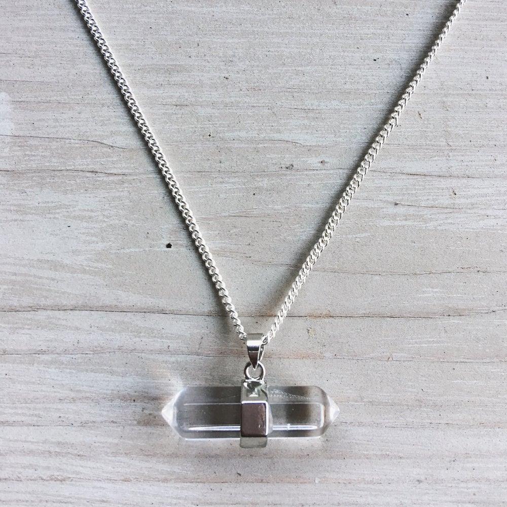 Image of Clear Quartz Necklace - bar