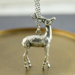 Image of Oh Deer - Silver Deer Necklace