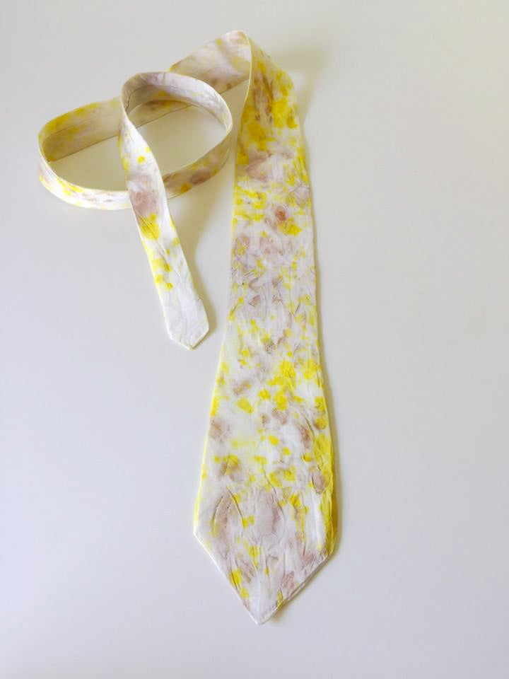 Image of Men's Silk Neck Tie Light Yellow