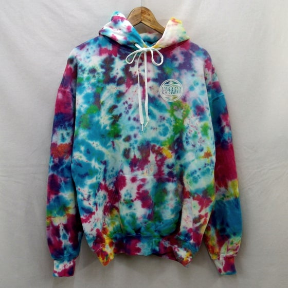 Image of Crystallized tie dye hoodie (Multi-coloured)