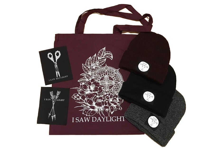 Image of Tote Bag / Patches / Beanies
