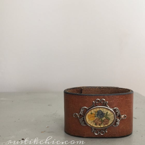 Image of Antique Floral Brooch Cuff