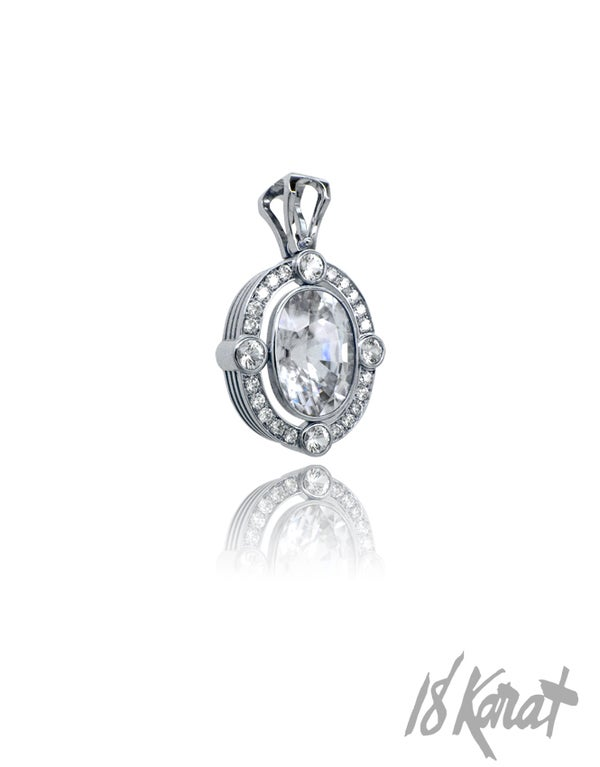 Fern's Zircon + Diamond Pendant - 18Karat Studio+Gallery