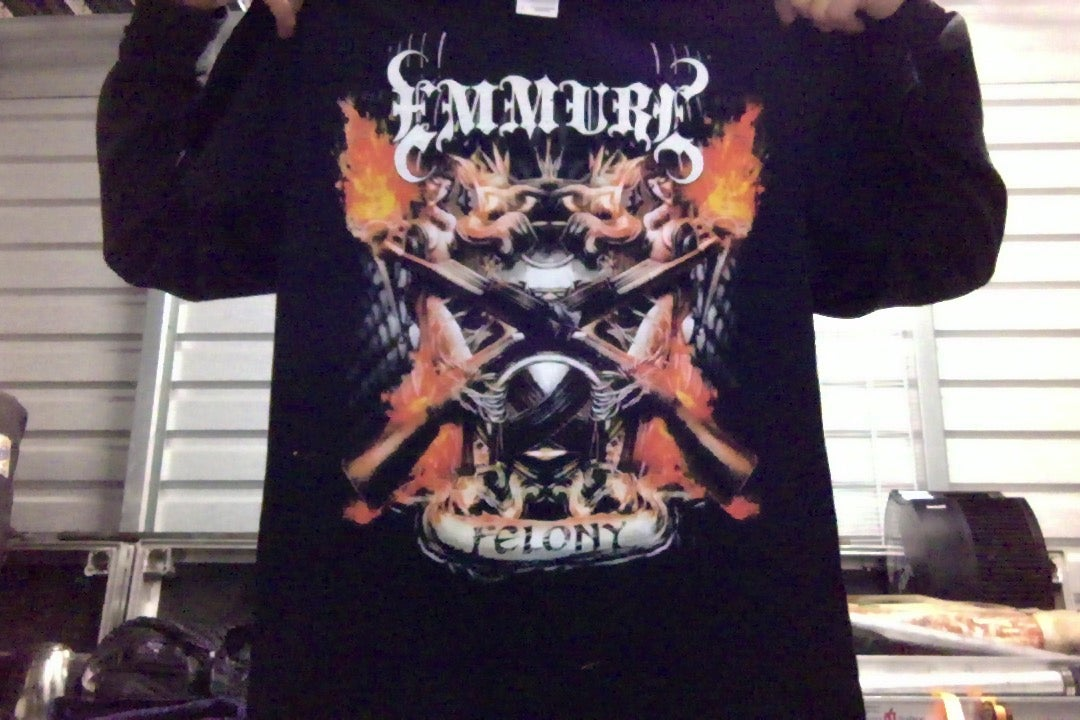 """Image of EMMURE """"FELONY"""" SHIRT (SIZE SMALL ONLY)"""