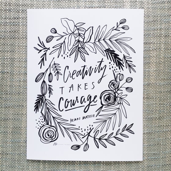 Image of CREATIVITY TAKES COURAGE