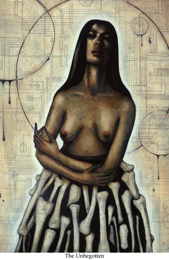 Image of Canvas Giclee- The Unbegotten