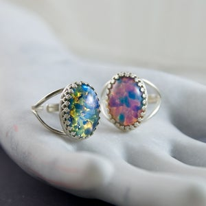 Image of Opalus - Sterling Silver Fire Opal Ring