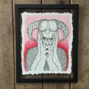 Image of Bullheaded Secret – Framed Original