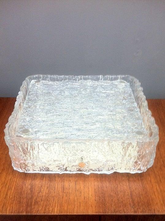 Image of Textured Glass Flush Mount Light