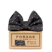 Image of black dot {kids bow tie}