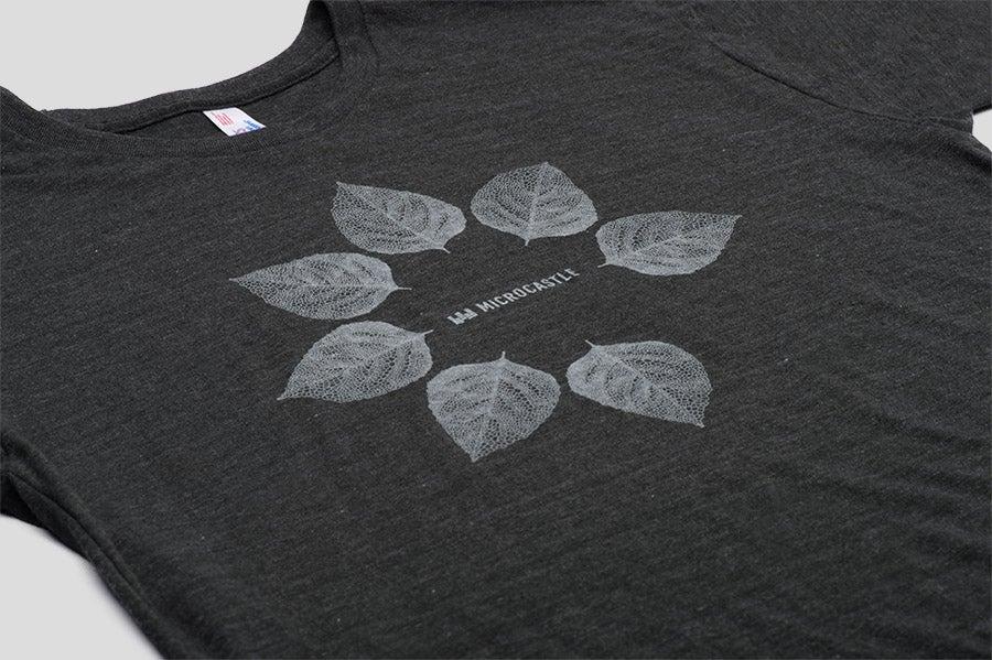Image of microCastle Pollen Spreader T-Shirt Heather Black