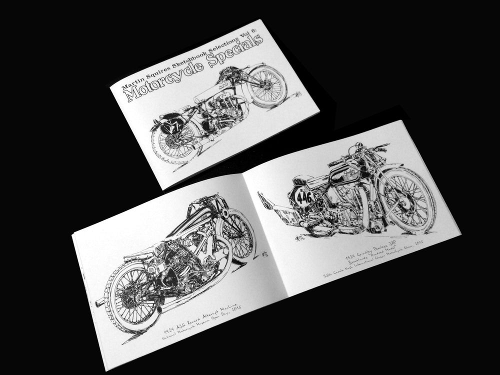 Image of Sketchbook Selections Vol 6: Motorcycle Specials