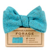 Image of teal flannel {bow tie}