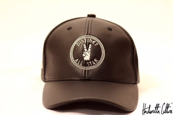Image of Black Leather Distinct All-Star Hat