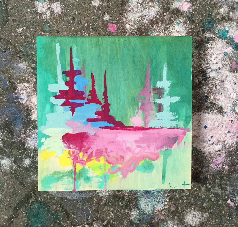 Image of tiny painting no. 30 (jade, peony, lemon)