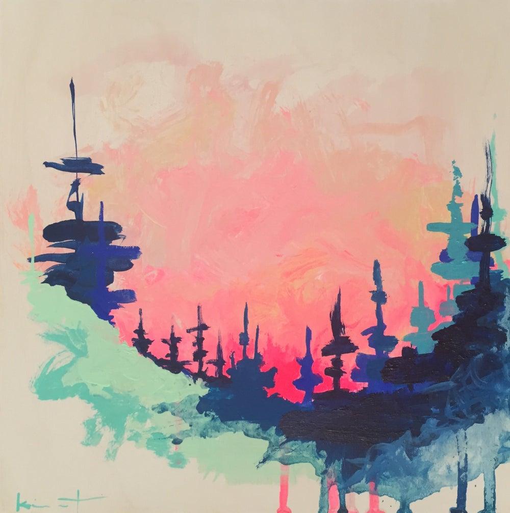Image of yosemite // pink sky night no 7