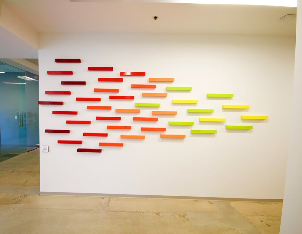 Large custom wall sculpture abstract art installation for 3 d wall art