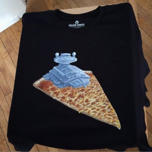 Image of One left!!  Super Cheesy Star Destroyer Black Tee ADULT Size Large