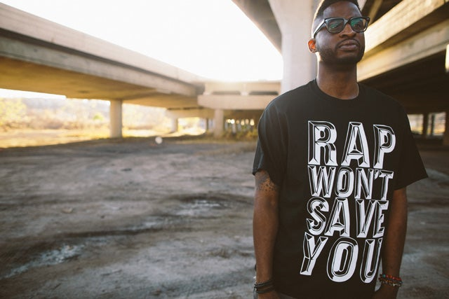 "Image of Mike Mictlan ""Rap Won't Save You"" Shirt"