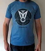Image of The Massacre Cave Logo T-Shirt Blue