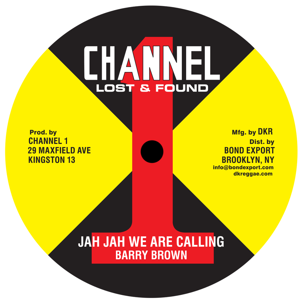 "Image of Barry Brown - Jah Jah We are Calling / Take Your Time 10"" (Channel 1)"