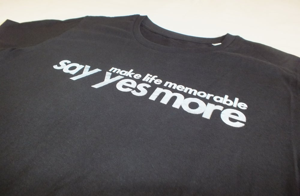 Image of Men's Black 'Make Life Memorable, Say Yes More'