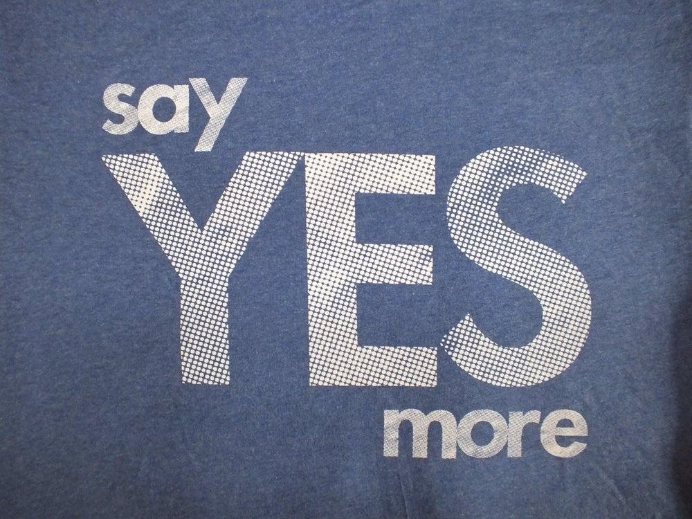 Image of Men's Dark Heather Indigo 'Say Yes More' Tee