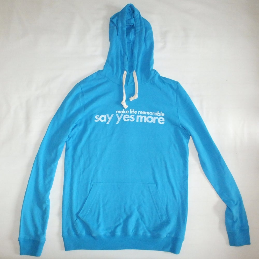 Image of Men's Azur Blue 'Say Yes More' Hoodie