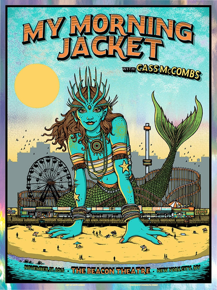Image of MY MORNING JACKET @ NYC - 2015 & Foil Variant