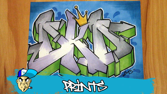Image of DKD Graffiti Letters Print