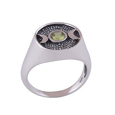 Image of Peridot Triple Moon Ring