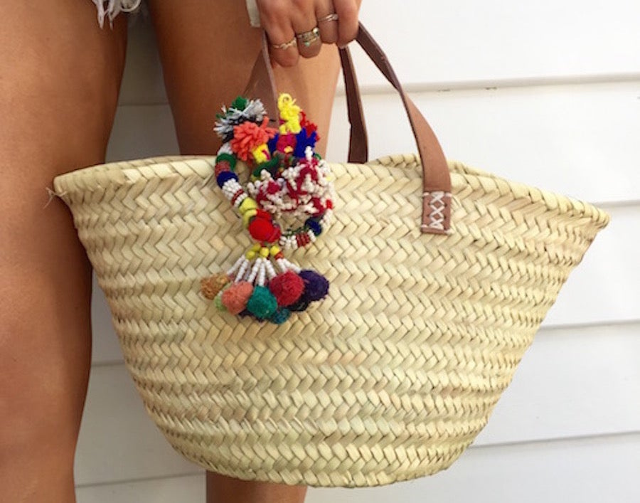 Image of Small Moroccan Market bag with Ceremonial Tassel
