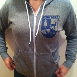 Image of Zip-up Hoodie: Montana Crest