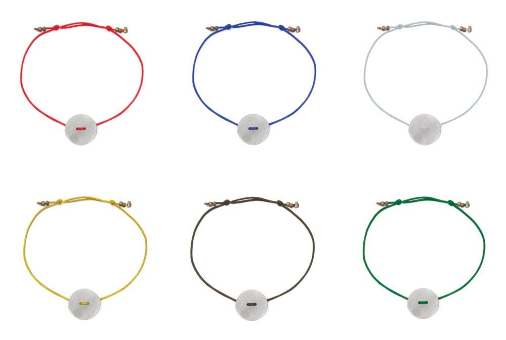 Image of ARCAICA - silver button bracelet