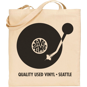 Image of Canvas Record Tote Bag - Space Needle Tonearm