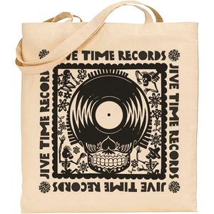 Image of Canvas LP Tote Bag - Record Skull