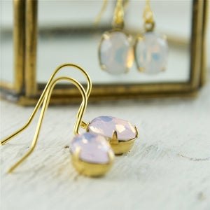 Image of Opale - White or Pink Opal Earrings