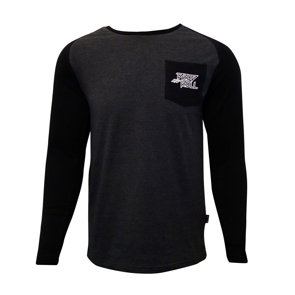 Image of Drop and Roll Black and Grey Long Sleeve