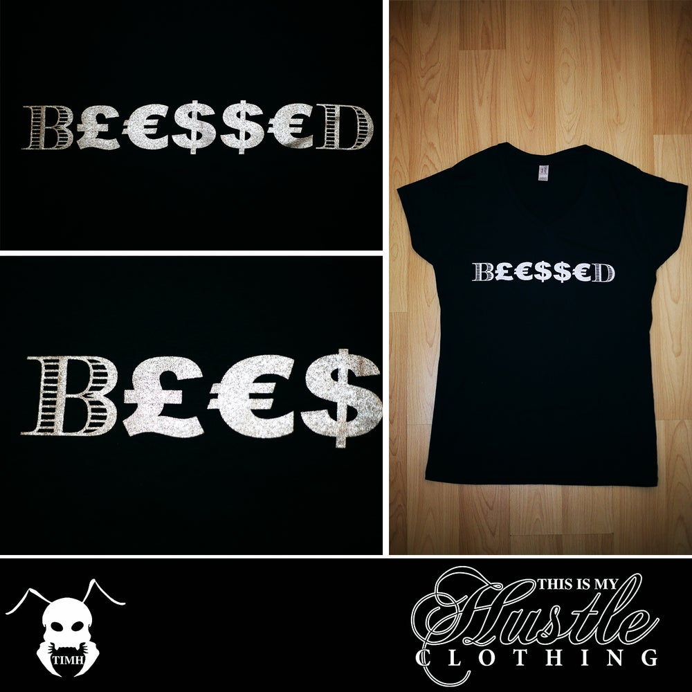 Image of Ladies B£€$$€D T-Shirt (Black)