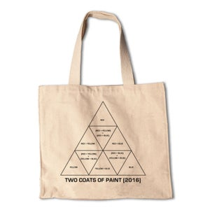 Image of Two Coats of Paint Cotton Totebag