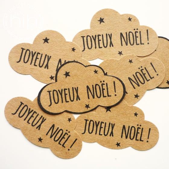 Image of étiquettes autocollantes ☁nuage☁ 'Joyeux Noël!'