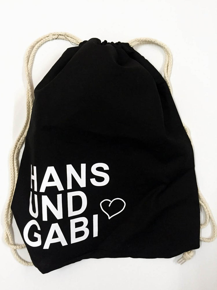 Image of Hans und Gabi Turnbeutel schwarz