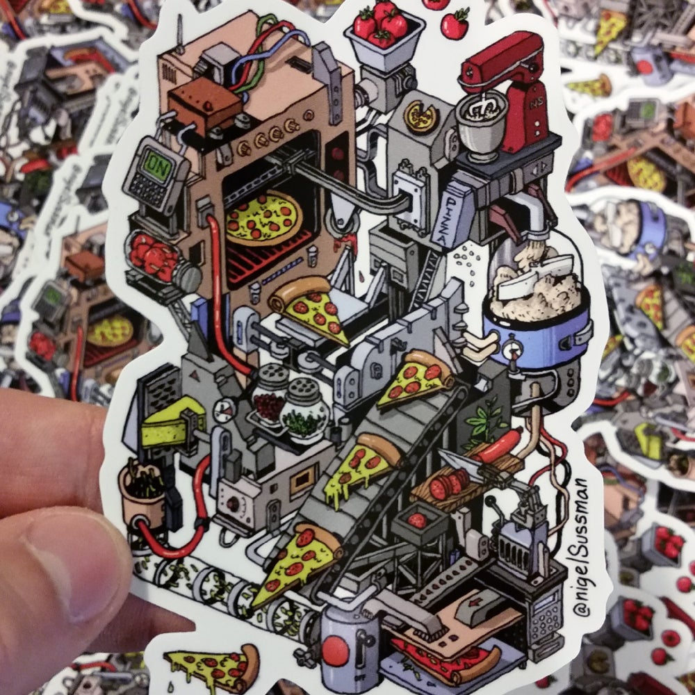 Image of Sticker - Pizza Machine