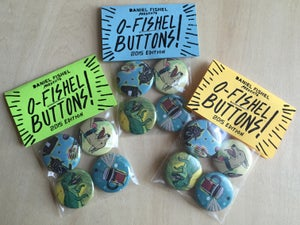 Image of O-Fishel Buttons 2015 edition - Four set / Limited 100 edition