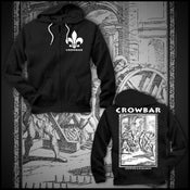 "Image of CROWBAR ""EXISTENCE"" BLACK ZIP HOODIE"