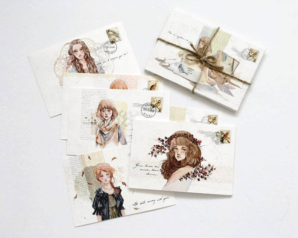 Image of Blush Hagaki Postcards