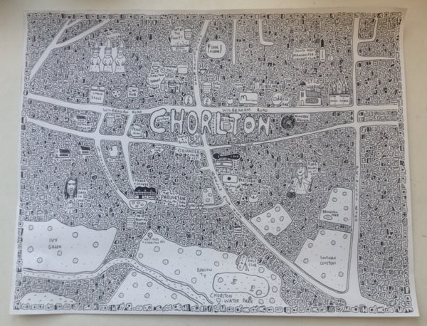 Image of Chorlton Doodle Map