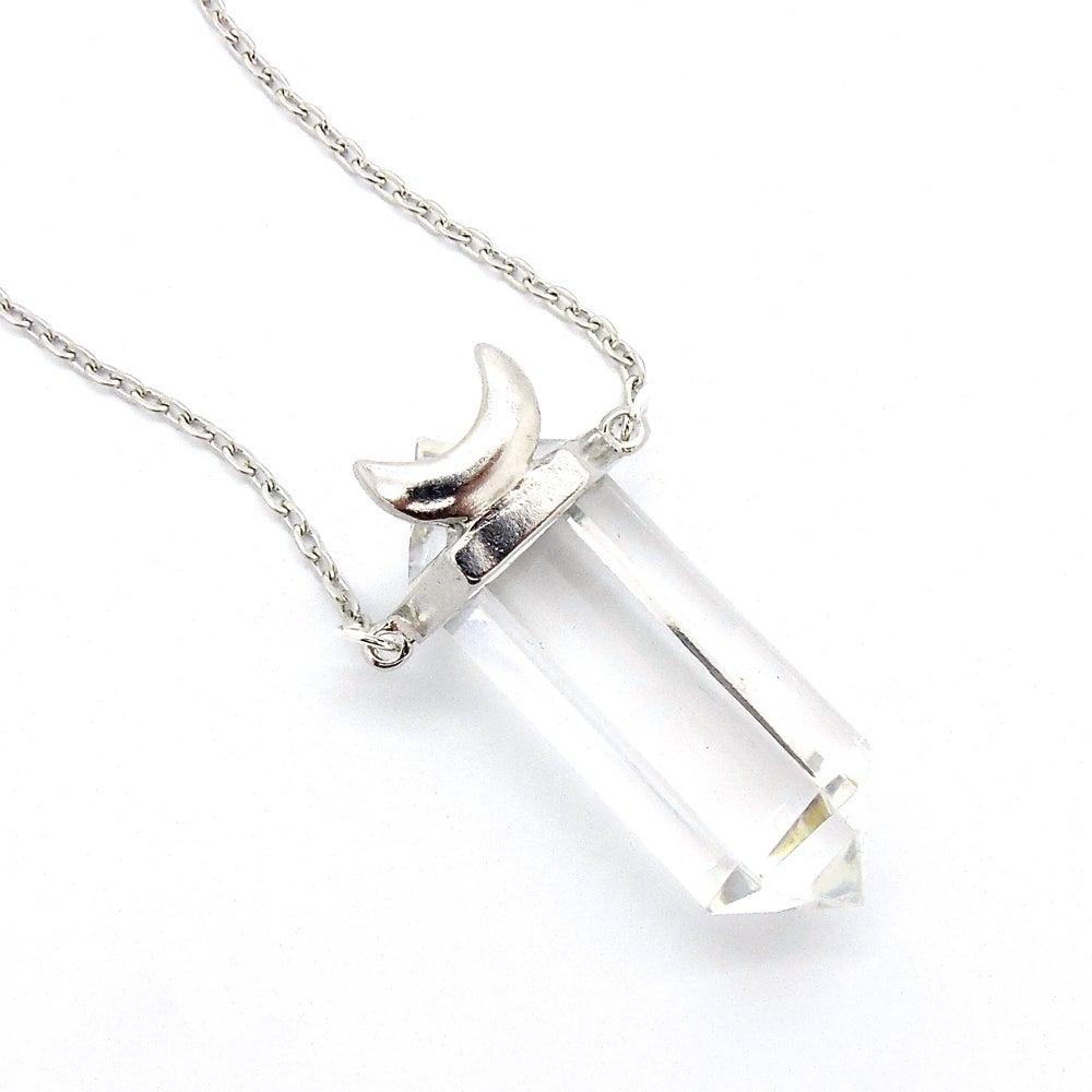 Image of Clear Quartz Luna Goddess Necklace
