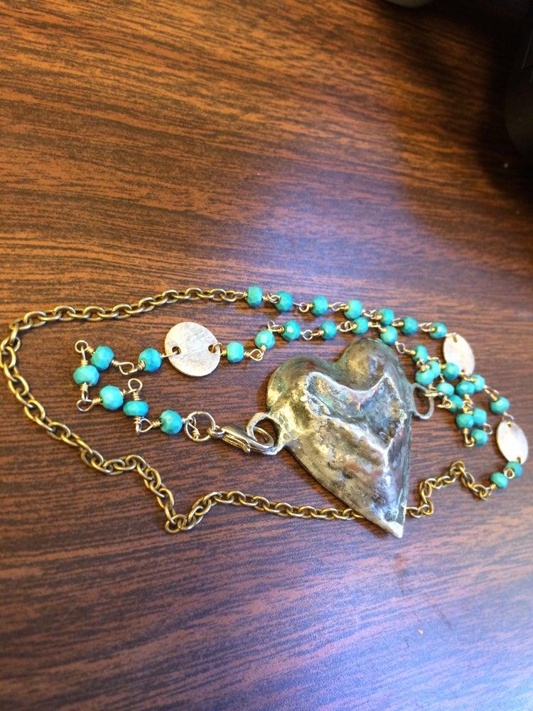 Image of Heart Wrap Bracelet/Necklace