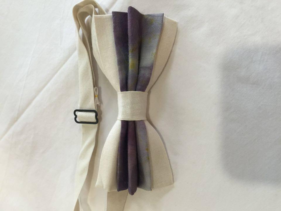 Image of Men's Silk Bow Tie / Purple Accent